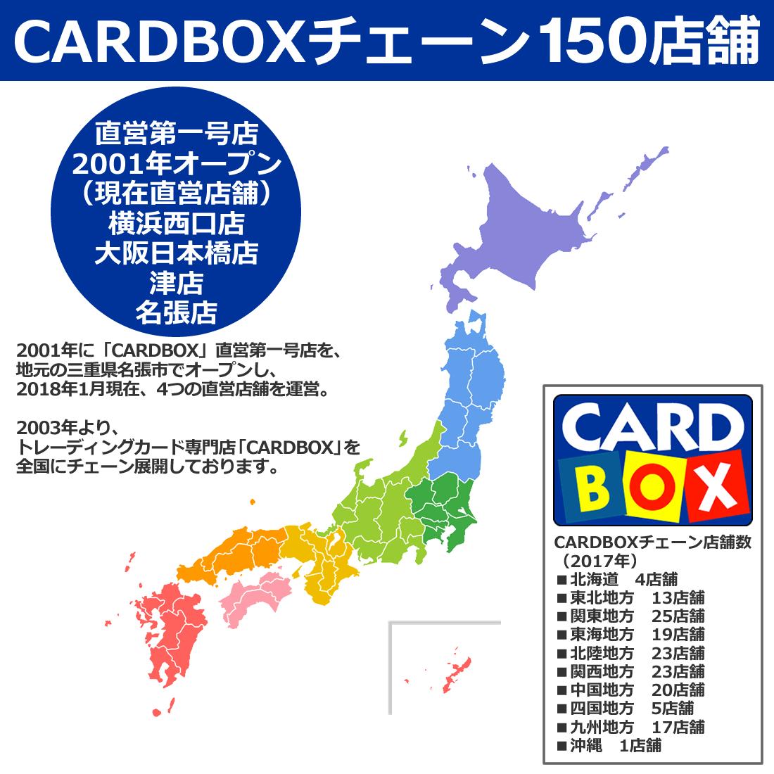 カードボックスチェーン150店舗(2003年~)