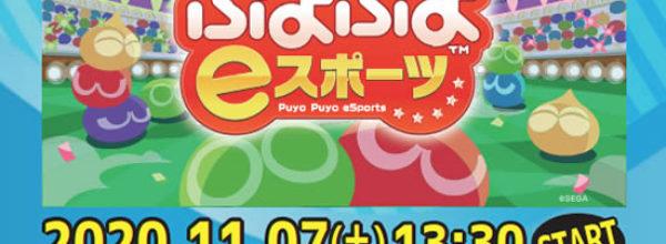 【eスポーツ】11/7(土)「ぷよぷよeスポーツ」『第4回 NINJA CUP』開催